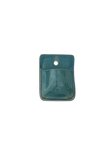 Warm Design Terracotta Duvar Saksılığı Mavi